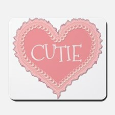 Pink Valentines Day Heart Cutie Mousepad