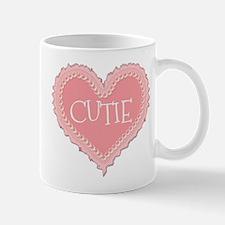 Pink Valentines Day Heart Cutie Mug