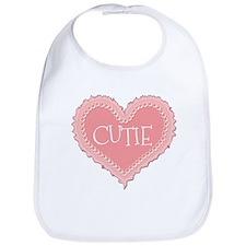 Pink Valentines Day Heart Cutie Bib