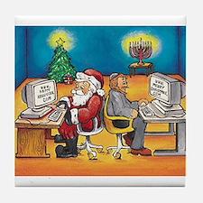 Cute Holiday Tile Coaster