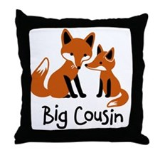 Big Cousin - Mod Fox Throw Pillow