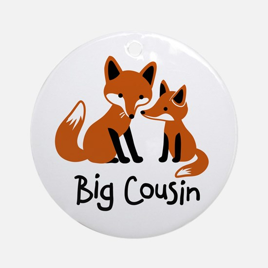 Big Cousin - Mod Fox Ornament (Round)