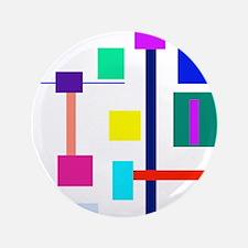 "Colorful Squares 3.5"" Button"