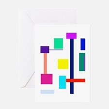 Colorful Squares Greeting Card