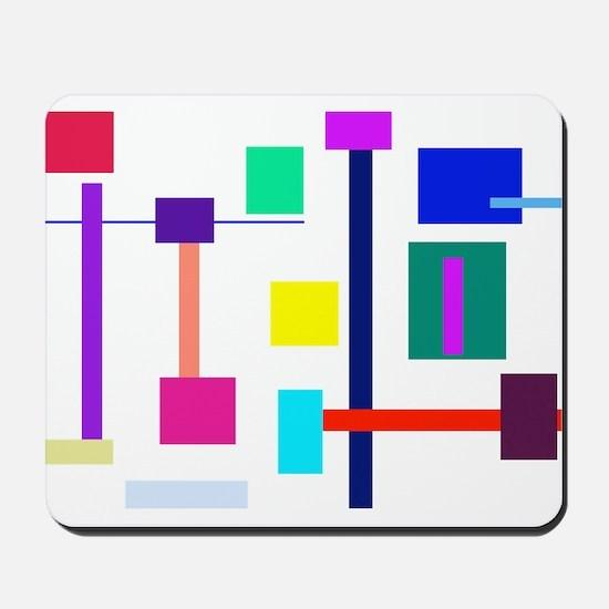 Colorful Squares Mousepad