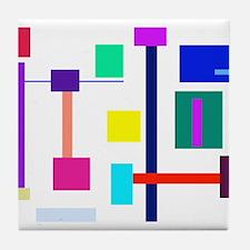 Colorful Squares Tile Coaster