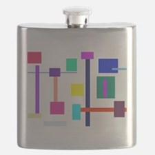 Colorful Squares Flask