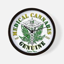 Genuine Medical Cannabis Wall Clock