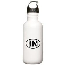 Indiana Map Water Bottle