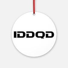 IDDQD Ornament (Round)