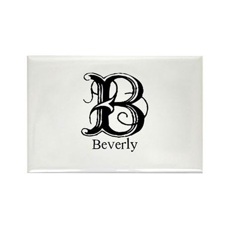 Beverly: Fancy Monogram Rectangle Magnet