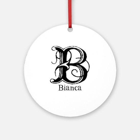 Bianca: Fancy Monogram Ornament (Round)
