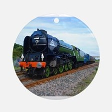 Flying Scotsman - Steam Train.jpg Ornament (Round)