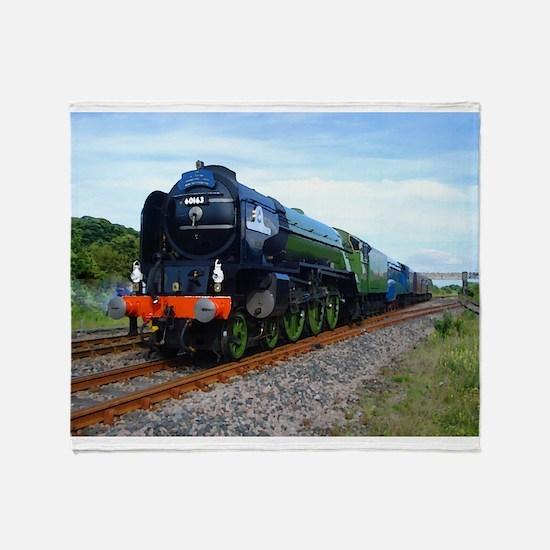 Flying Scotsman - Steam Train.jpg Throw Blanket