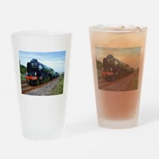 Flying Scotsman - Steam Train.jpg Drinking Glass