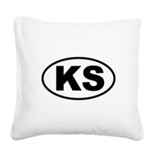 Kansas Square Canvas Pillow