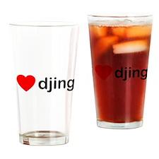 I Love DJing Drinking Glass