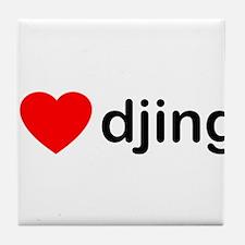 I Love DJing Tile Coaster