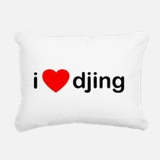 I Love DJing Rectangular Canvas Pillow