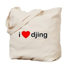 I Love DJing Tote Bag