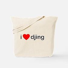 I Love DJing Tote Bag
