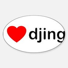 I Love DJing Decal