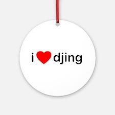 I Love DJing Ornament (Round)