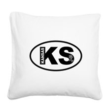 Kansas Sunflower Square Canvas Pillow
