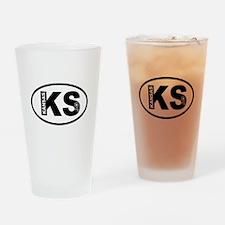 Kansas Sunflower Drinking Glass