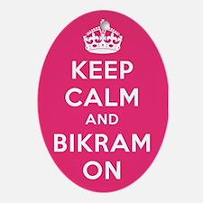 Keep Calm and Bikram On Ornament (Oval)