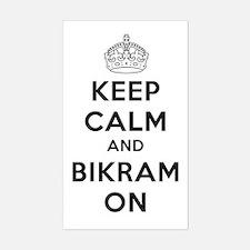 Keep Calm and Bikram On Decal