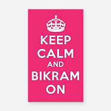 Keep Calm and Bikram On Rectangle Car Magnet