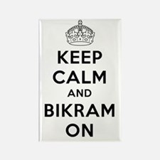 Keep Calm and Bikram On Rectangle Magnet (100 pack