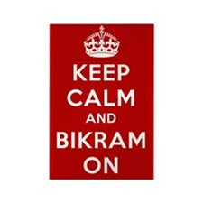 Keep Calm and Bikram On Rectangle Magnet