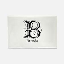 Brenda: Fancy Monogram Rectangle Magnet