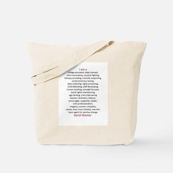I am a Social Worker Tote Bag