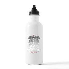 I am a Social Worker Water Bottle