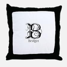 Bridget: Fancy Monogram Throw Pillow