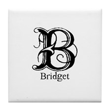 Bridget: Fancy Monogram Tile Coaster