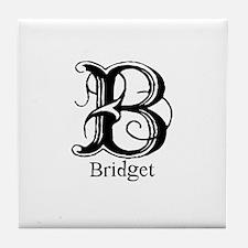 Bridget: Fancy Monogram Tile Coaster