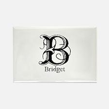 Bridget: Fancy Monogram Rectangle Magnet