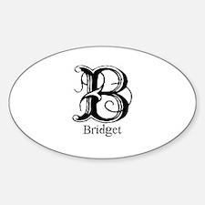 Bridget: Fancy Monogram Oval Decal