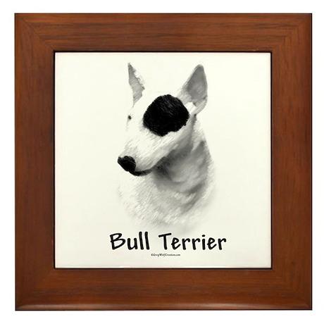 Bull Terrier charcoal Framed Tile