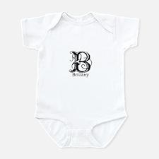 Brittany: Fancy Monogram Infant Bodysuit