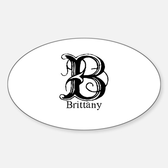 Brittany: Fancy Monogram Oval Decal