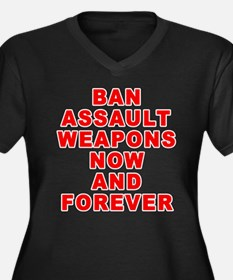 BAN ASSAULT WEAPONS FOREVER Women's Plus Size V-Ne