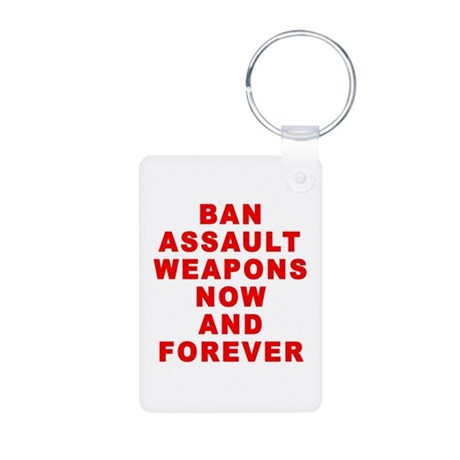 BAN ASSAULT WEAPONS FOREVER Aluminum Photo Keychai