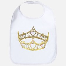 crown with hearts, centered, by Kristie Hubler Bib