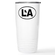 Louisiana Map Travel Mug