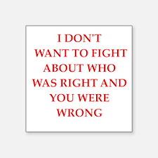"""fight Square Sticker 3"""" x 3"""""""